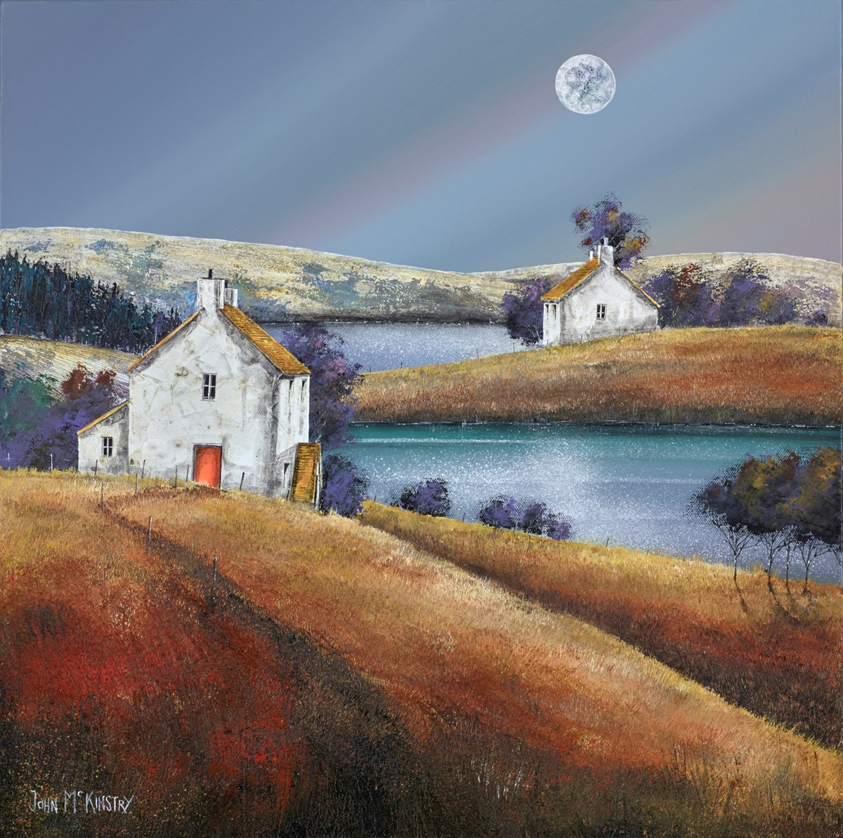The Moon's Light by john mckinstry -  sized 20x20 inches. Available from Whitewall Galleries
